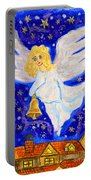 Angel With Christmas Bell Portable Battery Charger