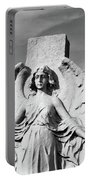 Angel With Outspread Wings And Other Angels In The Background Portable Battery Charger