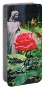 Angel With Roses 2 Portable Battery Charger
