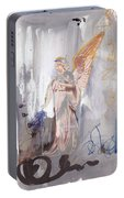 Angel Writing Doodles In Spirit Portable Battery Charger