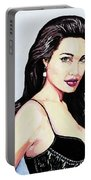 Angelina Jolie Portrait Portable Battery Charger