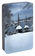 Angelique And Lewis R French In The Snow Portable Battery Charger