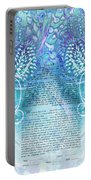 Angels Ketubah-reformed And Interfaith Version Portable Battery Charger