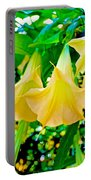 Angel's Trumpets At Pilgrim Place In Claremont-california Portable Battery Charger