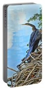 Anhinga In The Clouds Portable Battery Charger