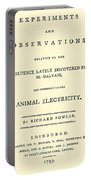 Animal Electricity, Title Page Portable Battery Charger