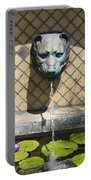 Animal Fountain Head Portable Battery Charger by Teresa Mucha