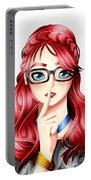 Anime Girl Portable Battery Charger