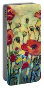 Anitas Poppies Portable Battery Charger by Jennifer Lommers