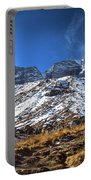 Annapurna Trail With Snow Mountain Background In Nepal Portable Battery Charger