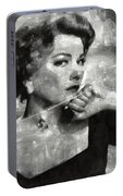 Anne Baxter Vintage Hollywood Actress Portable Battery Charger