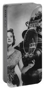 Anne Francis Movie Photo Forbidden Planet With Robby The Robot Portable Battery Charger