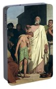 Annointing Of David By Saul Portable Battery Charger