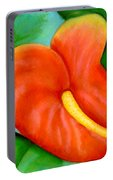 Anthurium Flowers #228 Portable Battery Charger