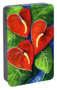 Anthurium Flowers #272 Portable Battery Charger
