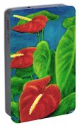 Anthurium Flowers #296 Portable Battery Charger