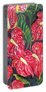 Anthurium Flowers Portable Battery Charger