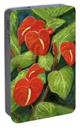 Anthurium Flowers #231 Portable Battery Charger