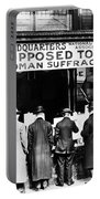 Anti-suffrage Association Portable Battery Charger