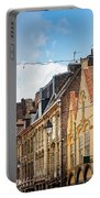 antique building view in Old Town Lille, France Portable Battery Charger