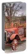 Antique Car And Filling Station 1 Portable Battery Charger