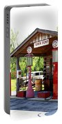 Antique Car And Filling Station 2 Portable Battery Charger