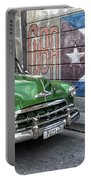 Antique Car And Mural Portable Battery Charger
