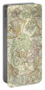 Antique Celestial Map Portable Battery Charger