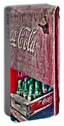 Antique Coca Cola Coke Refrigerator Portable Battery Charger