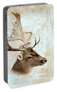 Antique Deer Portable Battery Charger