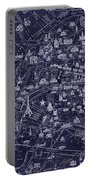 Antique French Pocket Map Of Paris Blueprint Style Portable Battery Charger