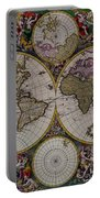 Antique Map Exotic Colorful Portable Battery Charger