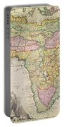 Antique Map Of Africa Portable Battery Charger by Pieter Schenk