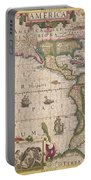 Antique Map Of America Portable Battery Charger