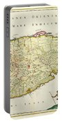 Antique Map Of Ceylon Portable Battery Charger by Nicolas Visscher