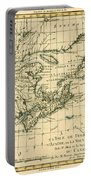 Antique Map Of Eastern Canada Portable Battery Charger