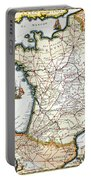 Antique Map Of France Portable Battery Charger