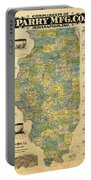 Antique Map Of Indianapolis By The Parry Mfg Company - Historical Map Portable Battery Charger