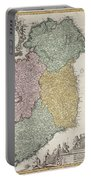 Antique Map Of Ireland Showing The Provinces Portable Battery Charger by Johann Baptist Homann