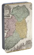 Antique Map Of Ireland Showing The Provinces Portable Battery Charger