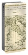 Antique Map Of Italy Portable Battery Charger