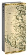 Antique Map Of North America Portable Battery Charger