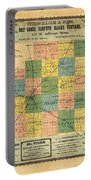 Antique Map Of The Mclean County - Business Advertisements - Historical Map Portable Battery Charger