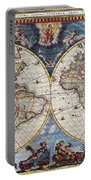 Antique Maps Of The World Joan Blaeu C 1662 Portable Battery Charger