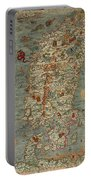 Antique Maps - Old Cartographic Maps - Antique Map Of Scandinavia In Latin, 1539 Portable Battery Charger