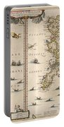 Antique Maps - Old Cartographic Maps - Antique Map Of Schetland And Orkney Islands - Scotland,1654 Portable Battery Charger