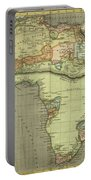 Antique Maps - Old Cartographic Maps - Antique Map Of Africa Portable Battery Charger