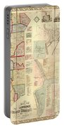 Antique Maps - Old Cartographic Maps - Antique Map Of Lawrence And Beaver Counties, 1860 Portable Battery Charger