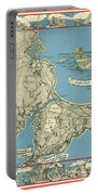 Antique Maps - Old Cartographic Maps - Antique Map Of Cape Cod, Massachusetts, 1945 Portable Battery Charger