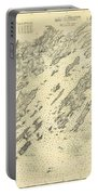 Antique Maps - Old Cartographic Maps - Antique Map Of Casco Bay, Maine, 1870 Portable Battery Charger